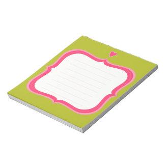 Libreta dulce bloc de notas