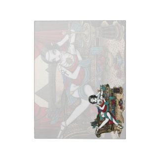 Libreta egipcia del arte del ángel de Maat de la d Bloc De Papel