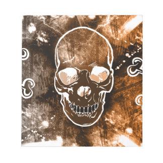 Libreta elegante del cráneo del Grunge Libretas Para Notas
