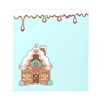 Libreta en colores pastel de la casa de pan de jen bloc
