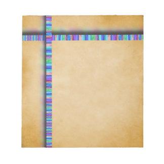 Libreta en colores pastel de la cinta y del pergam blocs