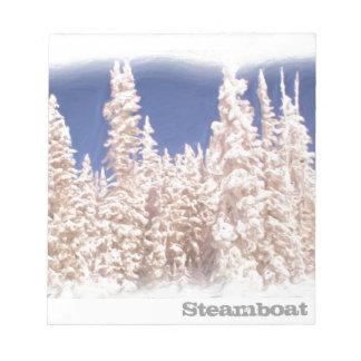 Libreta escarchada del árbol de Steamboat Springs Libretas Para Notas