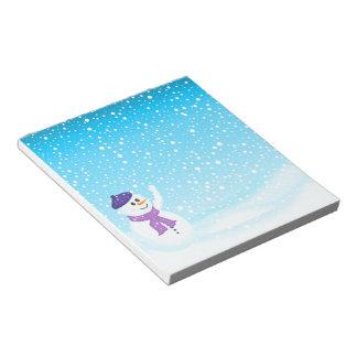 Libreta feliz del invierno del muñeco de nieve bloc