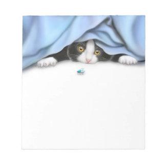 Libreta feroz del cazador del gato del gatito bloc de papel