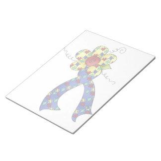 Libreta floral de la cinta de la conciencia del au bloc de notas