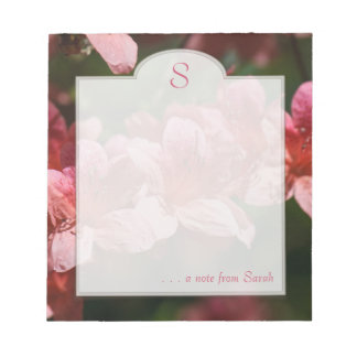 Libreta floral del personalizado de la fotografía  blocs de papel