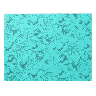 Libreta floral plumosa del trullo del pavo real de bloc de notas