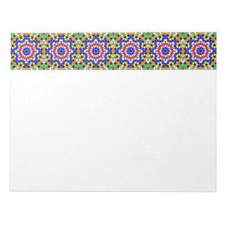 Libreta geométrica islámica del modelo bloc de papel