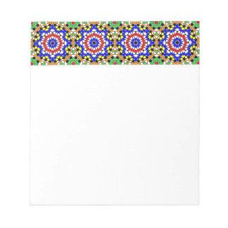 Libreta geométrica islámica del modelo libreta para notas