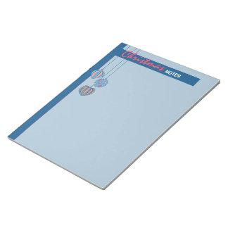Libreta grande azul de las bolas retras del navida libretas para notas