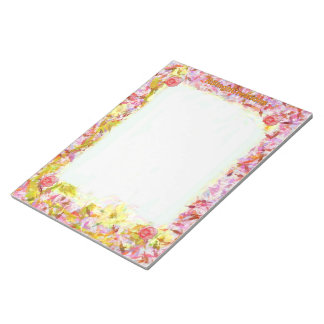 Libreta grande floral bloc de notas