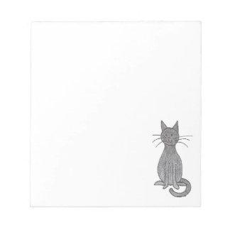 Libreta gris del gato del gatito blocs