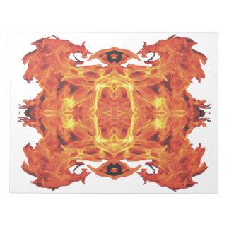 Libreta impresionante del arte de las llamas bloc