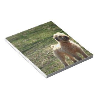 Libreta inglesa vieja del perro pastor blocs de papel