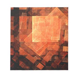 Libreta ligera del arte abstracto de la ventana bloc