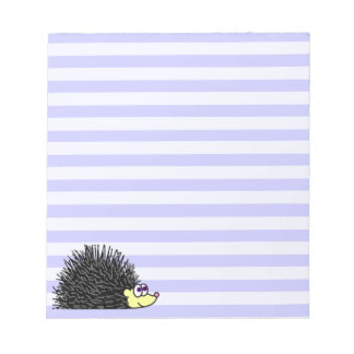 Libreta linda del erizo - raya azul blocs de papel