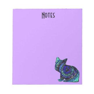 Libreta linda del gato del modelo bloc de notas