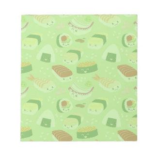 Libreta linda del sushi bloc de papel