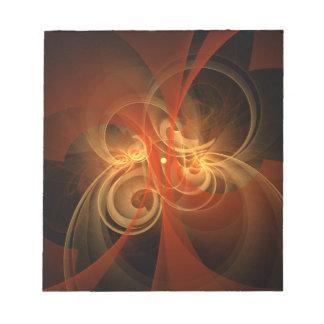 Libreta mágica del arte abstracto de la mañana bloc