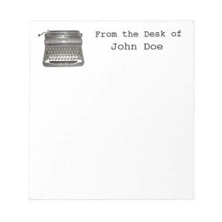 Libreta manual de la máquina de escribir bloc