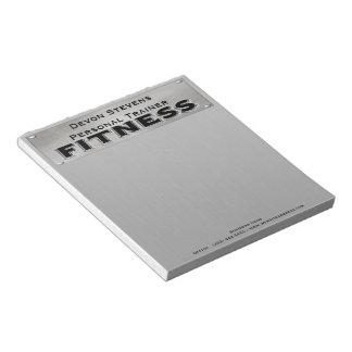Libreta negra de la aptitud de la plata del metal bloc