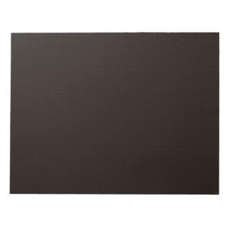 Libreta negra del asfalto bloc de papel