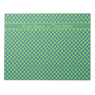 Libreta o Jotter de encargo, azul, lunares verdes Blocs De Notas