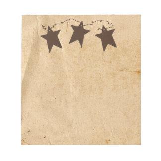 Libreta oxidada de las estrellas bloc de notas