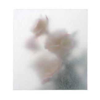 libreta pálida de la textura de los rosas libreta para notas
