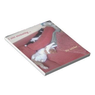 Libreta perezosa de la diversión del gato blocs de papel
