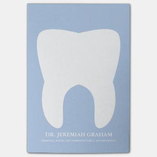 Libreta personal de la oficina del dentista notas post-it®