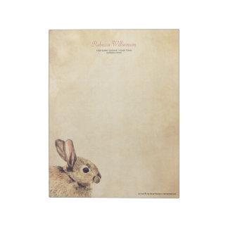 Libreta personalizada bosquejo del conejo del vint libretas para notas