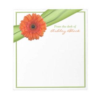 Libreta personalizada cinta anaranjada de la marga blocs de notas
