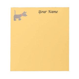 libreta personalizada con diseño del perro blocs