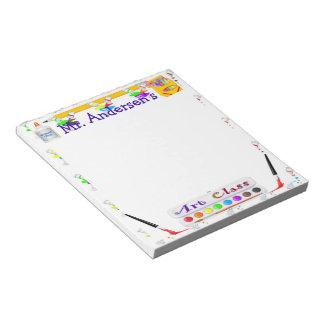 Libreta personalizada de la clase de arte de los bloc de notas