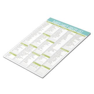 Libreta personalizada de la lista del ultramarinos libreta para notas