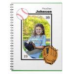Libreta personalizada del béisbol/del softball