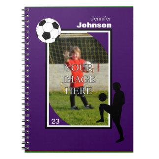 Libreta personalizada del fútbol/del fútbol