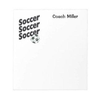 Libreta personalizada del fútbol libreta para notas