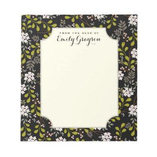 Libreta personalizada floral del arbolado natural blocs de notas
