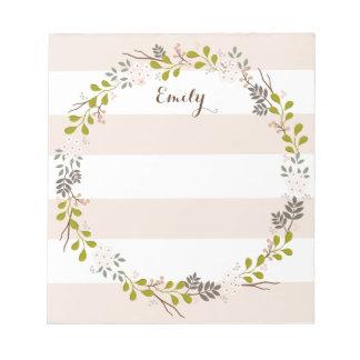 Libreta personalizada floral del arbolado natural blocs de papel