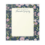 Libreta personalizada floral del escritorio del bloc de notas