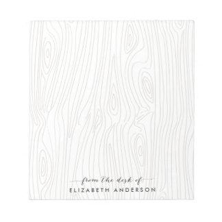 Libreta personalizada grano de madera rústico bloc de notas