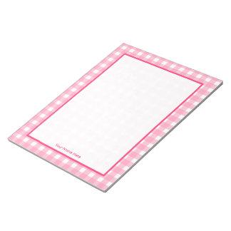 Libreta personalizada guinga rosada blocs de papel