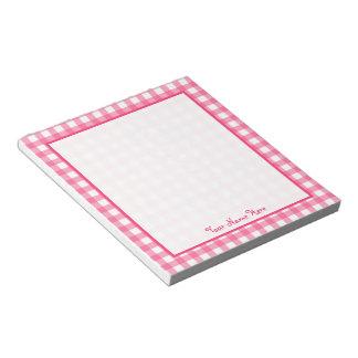 Libreta personalizada guinga rosada libretas para notas