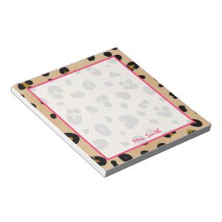 Libreta personalizada leopardo bloc