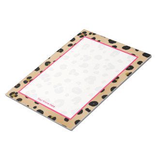Libreta personalizada leopardo bloc de notas