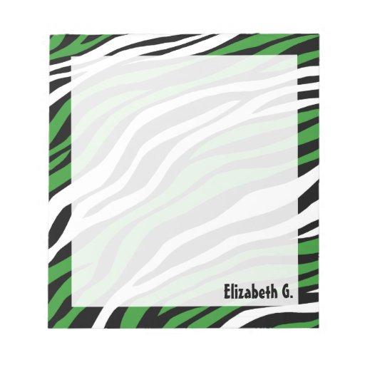 Libreta personalizada mezcla del verde del estampa blocs de notas