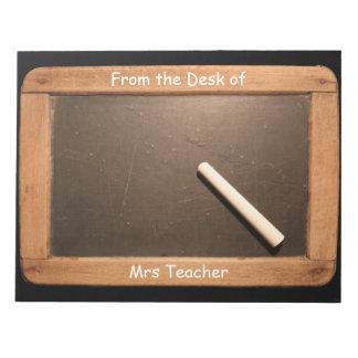 Libreta personalizada pizarra del profesor de la blocs de notas