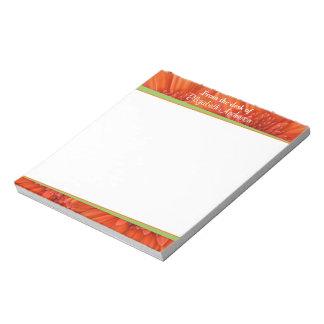 Libreta personalizada verde anaranjado de la marga libreta para notas